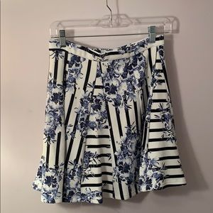 Romeo & Juliet couture floral and strip skirt